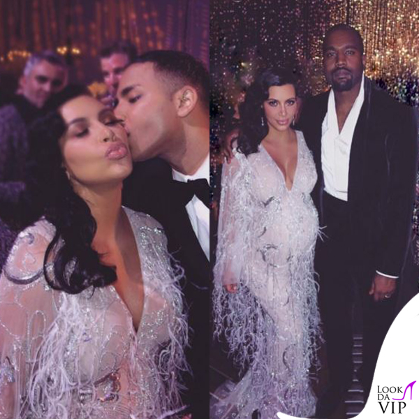 Kim Kardashian compleanno Kris Jenner abito Marchesa