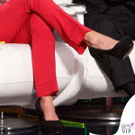 Maria De Filippi Tu si que vales 7 puntata giacca pantaloni scarpe Gucci 4