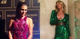 Valeria Solarino Alessia Marcuzzi abiti Balmain per H&M