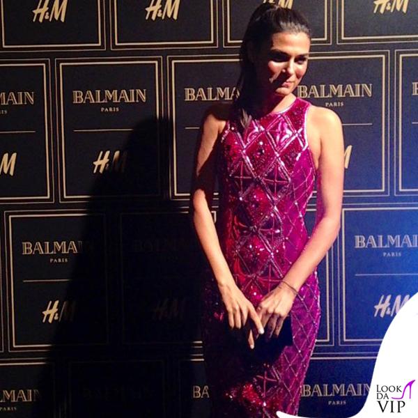 Valeria Solarino abito Balmain per H&M