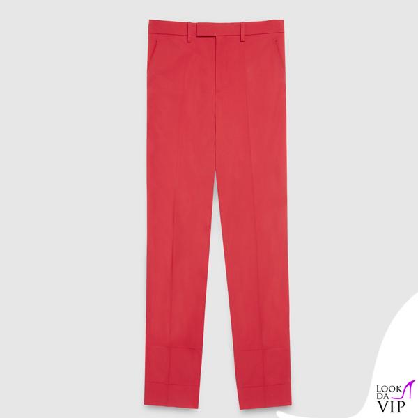 pantaloni Gucci rossi