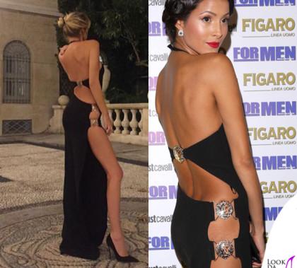 Alessia Marcuzzi Mariana Rodriguez abito Versus