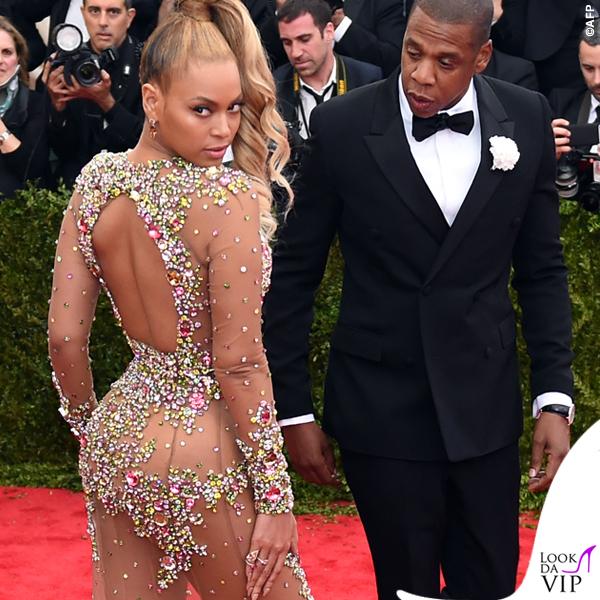 Beyonce Met Gala 2015 abito sandali Givenchy