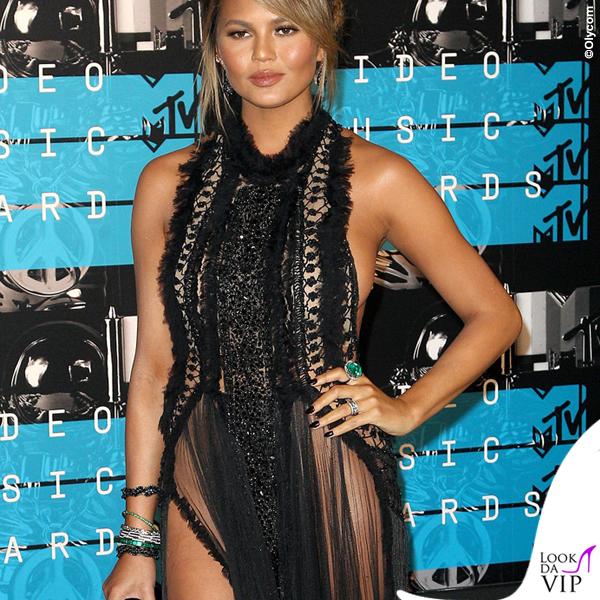 Chrissy Teigen MTV Video Music Awards abito Marchesa
