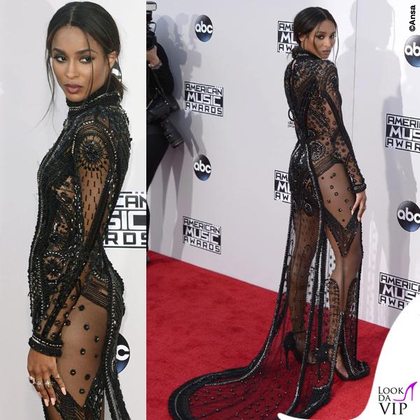 Ciara American Music Awards abito Reem Acra