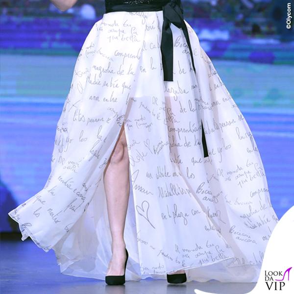 Flavia Pennetta donna dell'anno 2015 Gazzetta Sports Award corpetto gonna Atelier Emé 2