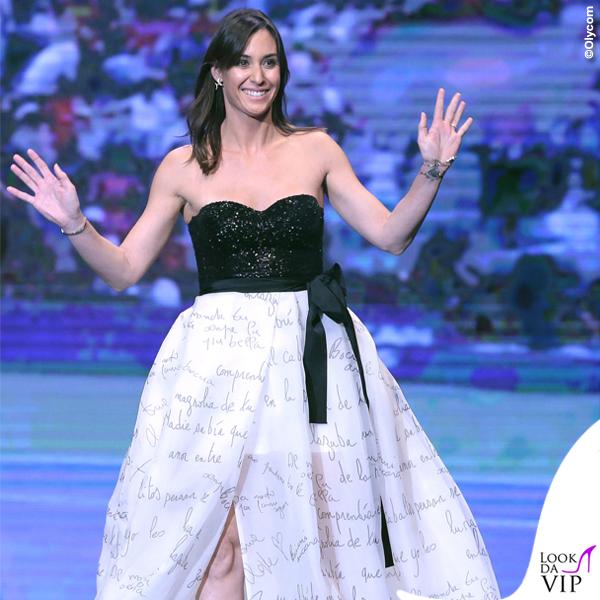 Flavia Pennetta donna dell'anno 2015 Gazzetta Sports Award corpetto gonna Atelier Emé