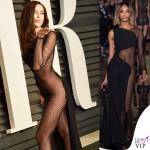 Irina Shayk Vanity Fair party oscar 2015 abito Atelier Versace 2