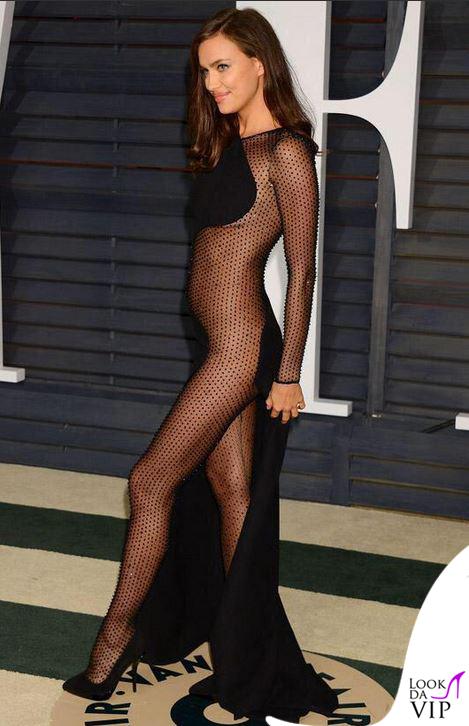 Irina Shayk Vanity Fair party oscar 2015 abito Atelier Versace