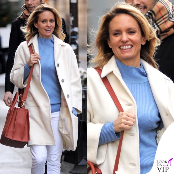 Justine Mattera cappotto Dondup maglia Marina Yachting jeans Care Label borsa Pomikaki scarpe Adidas intimo Verdissima 2