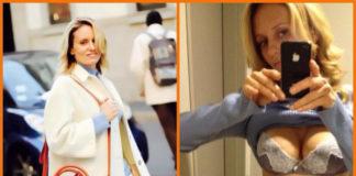 Justine Mattera cappotto Dondup maglia Marina Yachting jeans Care Label borsa Pomikaki scarpe Adidas intimo Verdissima