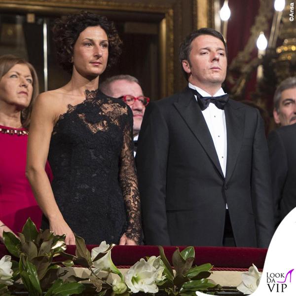 Prima de La Scala Agnese Renzi abito Ermanno Scervino 2