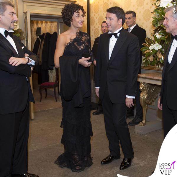 Prima de La Scala Agnese Renzi abito Ermanno Scervino