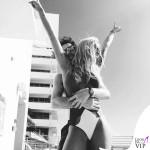 Rita Ora costume intero Moeva occhiali Miu Miu bodychain Jacquie Aiche 9