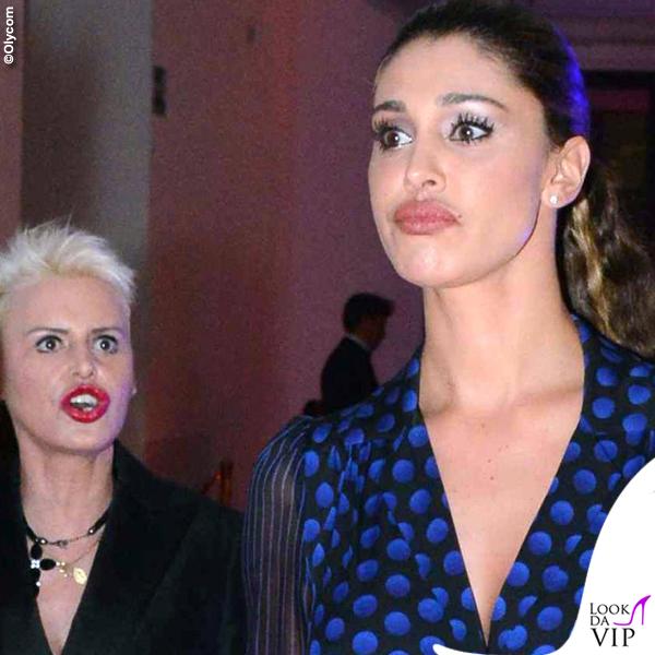42 compleanno Alessandro Martorana Belen Rodriguez tuta Diane Von Fusterberg clutch YSL 2