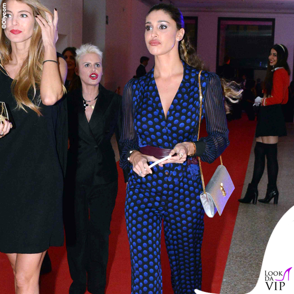 42 compleanno Alessandro Martorana Belen Rodriguez tuta Diane Von Fusterberg clutch YSL