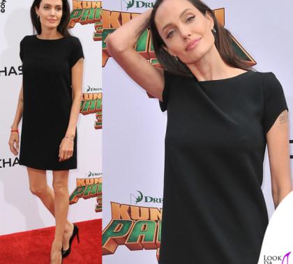 Angelina Jolie abito e pump Saint Laurent orecchini EF Collection bracciale Nigaam