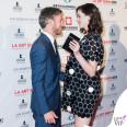 Anne Hathaway Los Angeles Fine Art Show 2016 abito Marc by Marc Jacobs scarpe Miu Miu
