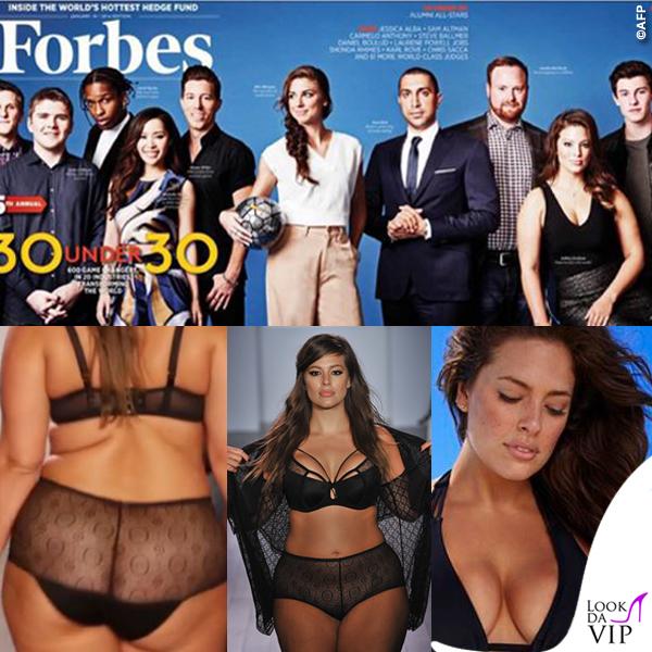 Ashley Graham Forbes sfilata bikini