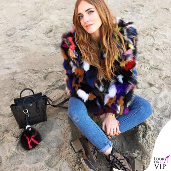 Chiara Ferragni borsa Celine charm Fendi