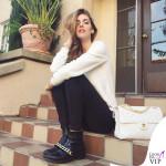 Chiara Ferragni borsa Chanel boots Givenchy