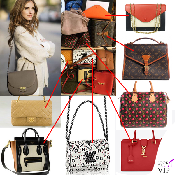 8abaf880ad < > · Chiara Ferragni borse Celine Chanel Saint Laurent Louis Vuitton