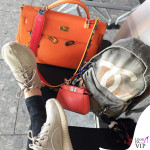 Chiara Ferragni borse Hermes Fendi e Chanel sneakers Yeezy Adidas charm Fendi Karlito