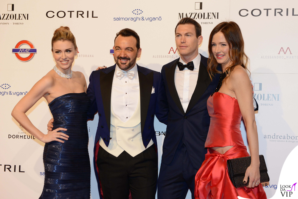 Elena Barolo, Alessandro Martorana, Stephan Lichtsteiner e la moglie