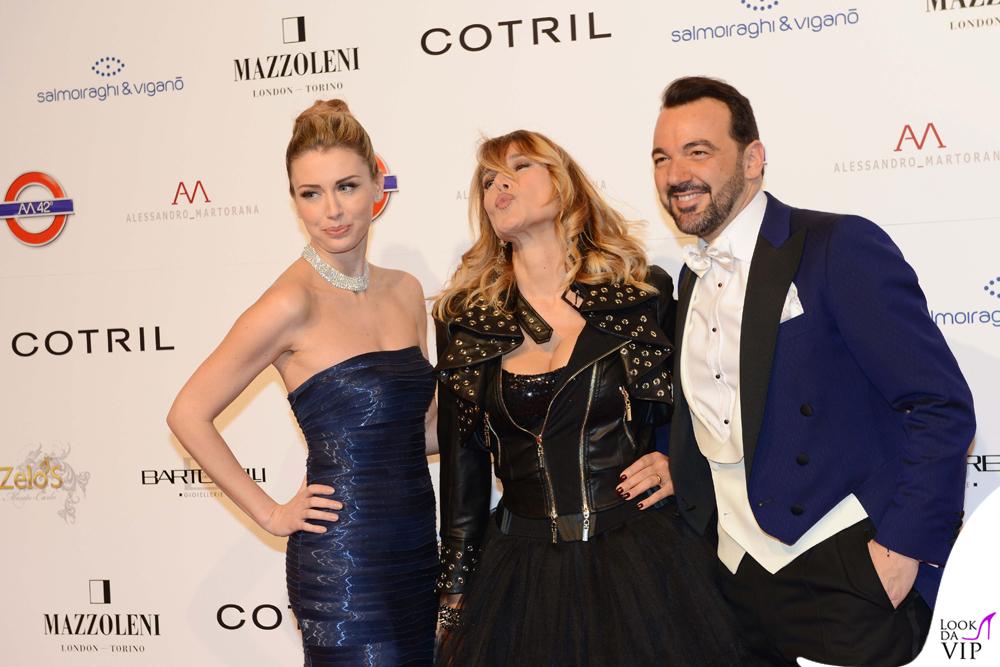 Elena Barolo, Barbara D'Urso e Alessandro Martorana