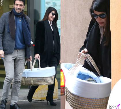 Ilaria D'Amico, Gigi e Leopoldo Mattia Buffon cesta porta enfant Pali