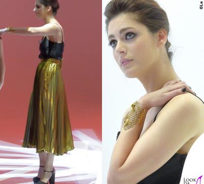 Le Iene Miriam Leone total Gucci gioielli Delfina Delettrez