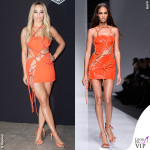 PFW 2016 Rita Ora Joan Smalls sfilata Versace Haute Couture
