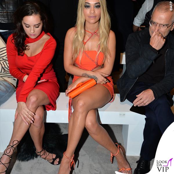 PFW 2016 Rita Ora sfilata Versace Haute Couture abito Atelier Versace 8