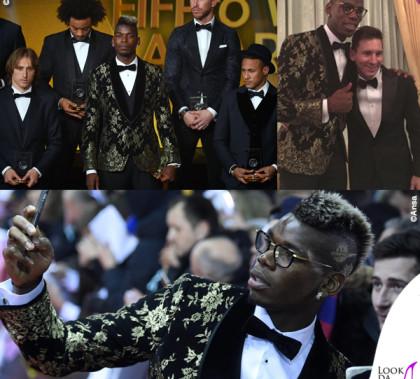 Pallone d'Oro Lionel Messi Pogba giacca Dolce & Gabbana