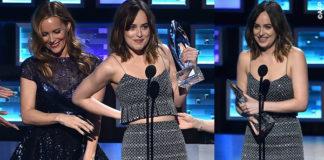 People's Choice Awards Leslie Mann Dakota Johnson abito Armani Privé