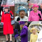 L'ombrello coordinato della regina Elisabetta
