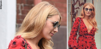 Blake Lively abito Michael Kors scarpe Christian Louboutin borsa Chanel occhiali Rayban