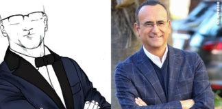Carlo Conti Sanremo 2016 bozzetto abito Salvatore Ferragamo conferenza stampa