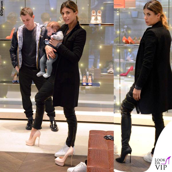 Elisabetta Canalis Brian e Skyler Eva Perri shopping Casadei