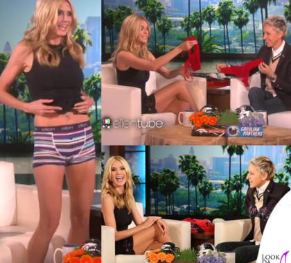 Heidi Klum The Ellen Show abito Haney intimo Heidi Klum Intimates