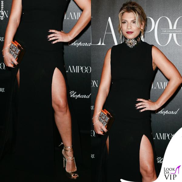 innovative design 99679 ae49b Lampoon party Emma Marrone abito Fausto Puglisi scarpe Le ...