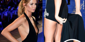 Zoolander 2 London premiere Millie Mackintosh abito Balestra scarpe Gina gioielli Apples & Figs
