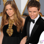 Oscar 2016 Hannah Bagshawe abito Alexander McQueen e Eddie Redmayne