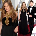 Oscar 2016 Hannah Bagshawe abito Alexander McQueen e Eddie Redmayne 2