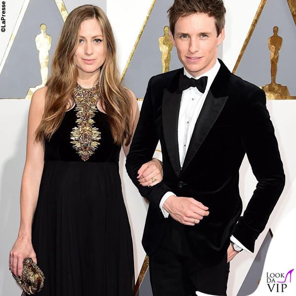 Oscar 2016 Hannah Bagshawe abito Alexander McQueen e Eddie Redmayne 4