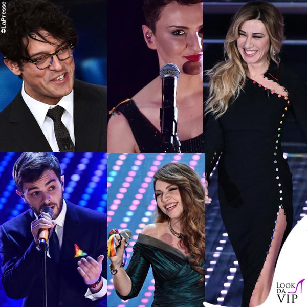 Sanremo 2016 Gabriel Garko, Arisa, Virginia Raffaele, Cristina D'Avena, Lorenzo Fragola