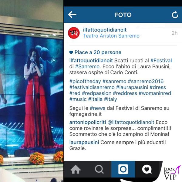Sanremo 2016 prima serata Laura Pausini Il Fatto Quotidiano 2