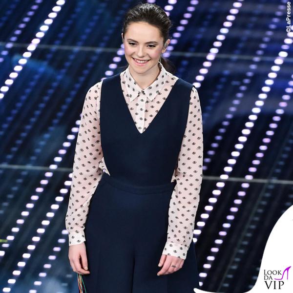 Sanremo 2016 seconda serata Francesca Michielin total Au Jour Le Jour 2