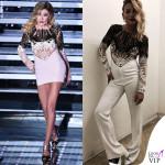 Virginia Raffaele Festival di Sanremo 2016 Belen Rodriguez Emma Marrone outfit Mario Dice 2