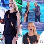 Alessia Marcuzzi Isola dei Famosi prima puntata abito Versace
